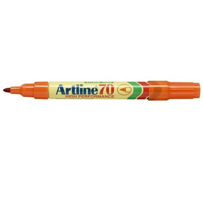 Artline 70 Permanent Marker Bullet 1.5mm Orange Box Of 12