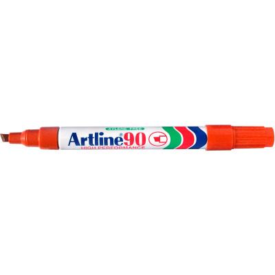 Artline 90 Permanent Markers Chisel 2-5mm Orange Pack Of 12