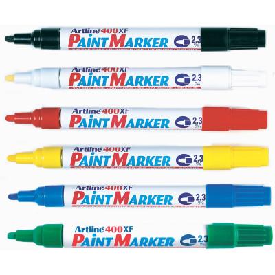 Artline 400Xf Paint Marker Medium Bullet 2.3mm Assorted Box Of 12