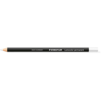 Staedtler 108 Lumocolour Glasochrom Permanent Pencil White