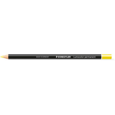 Staedtler 108 Lumocolour Glasochrom Permanent Pencil Yellow