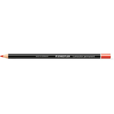 Staedtler 108 Lumocolour Glasochrom Permanent Pencil Red