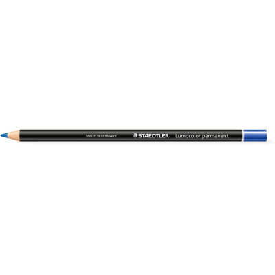 Staedtler 108 Lumocolour Glasochrom Permanent Pencil Blue