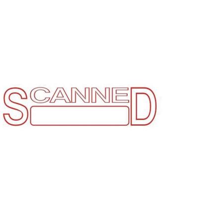 Deskmate Pre Ink Stamp Scanned (Date) Red