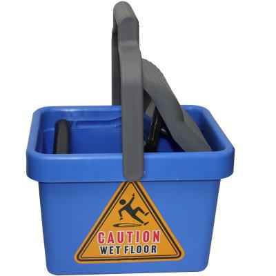 Cleanlink Plastic Mop Bucket Wringer 9 Litres Blue
