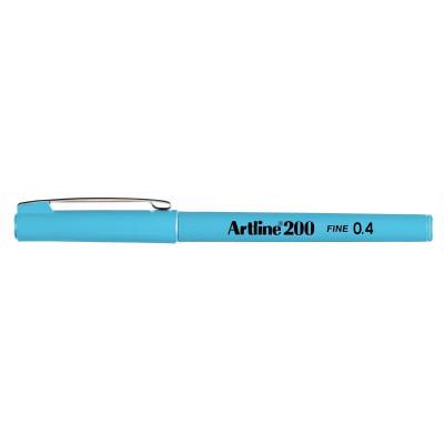 Artline 200 Fineliner Pen 0.4mm Light Blue Pack Of 12