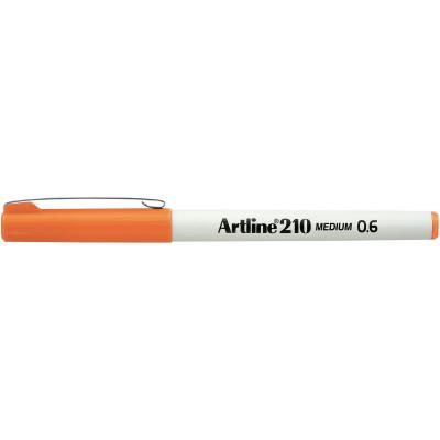 Artline 210 Fineliner Pen 0.6mm Orange Pack Of 12
