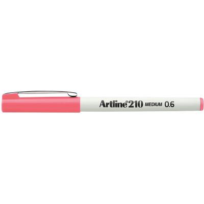 Artline 210 Fineliner Pen 0.6mm Pink Pack Of 12