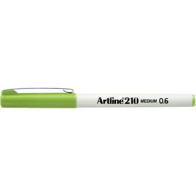 Artline 210 Fineliner Pen 0.6mm Lime Green Pack Of 12