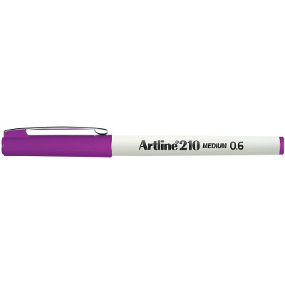 Artline 210 Fineliner Pen 0.6mm Magenta Pack Of 12