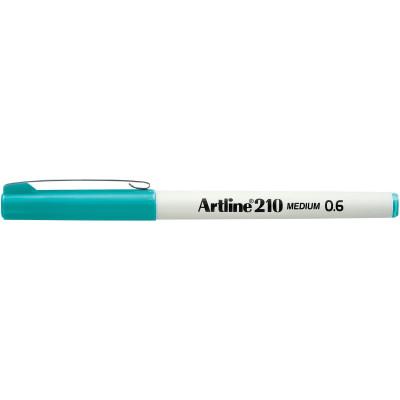Artline 210 Fineliner Pen 0.6mm Turquoise Pack Of 12